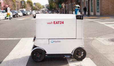 Marble与Yelp合作推出其自动送餐机器人