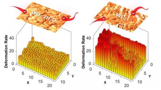 显微镜前进揭示了水在储能材料中的意外作用