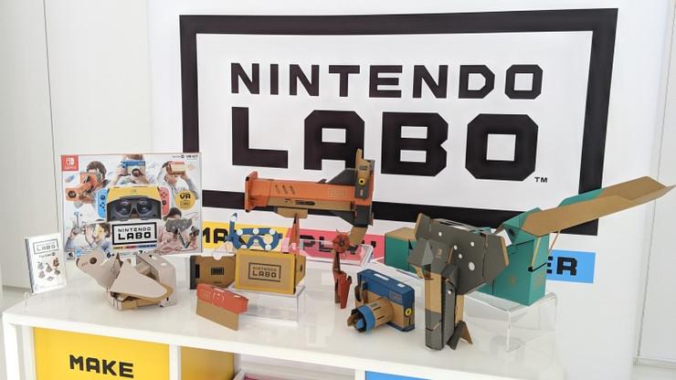 使用Nintendo Labo VR Kit进行操作