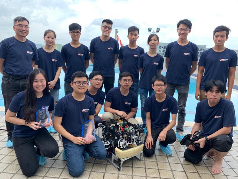香港科大水底机械人国际赛夺冠