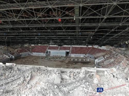 深圳体育中心拆除作业项目现场倾倒坍塌