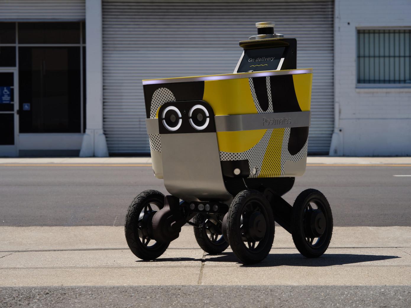在Ouster的激光雷达中Postmates的自动驾驶交付车将会看到