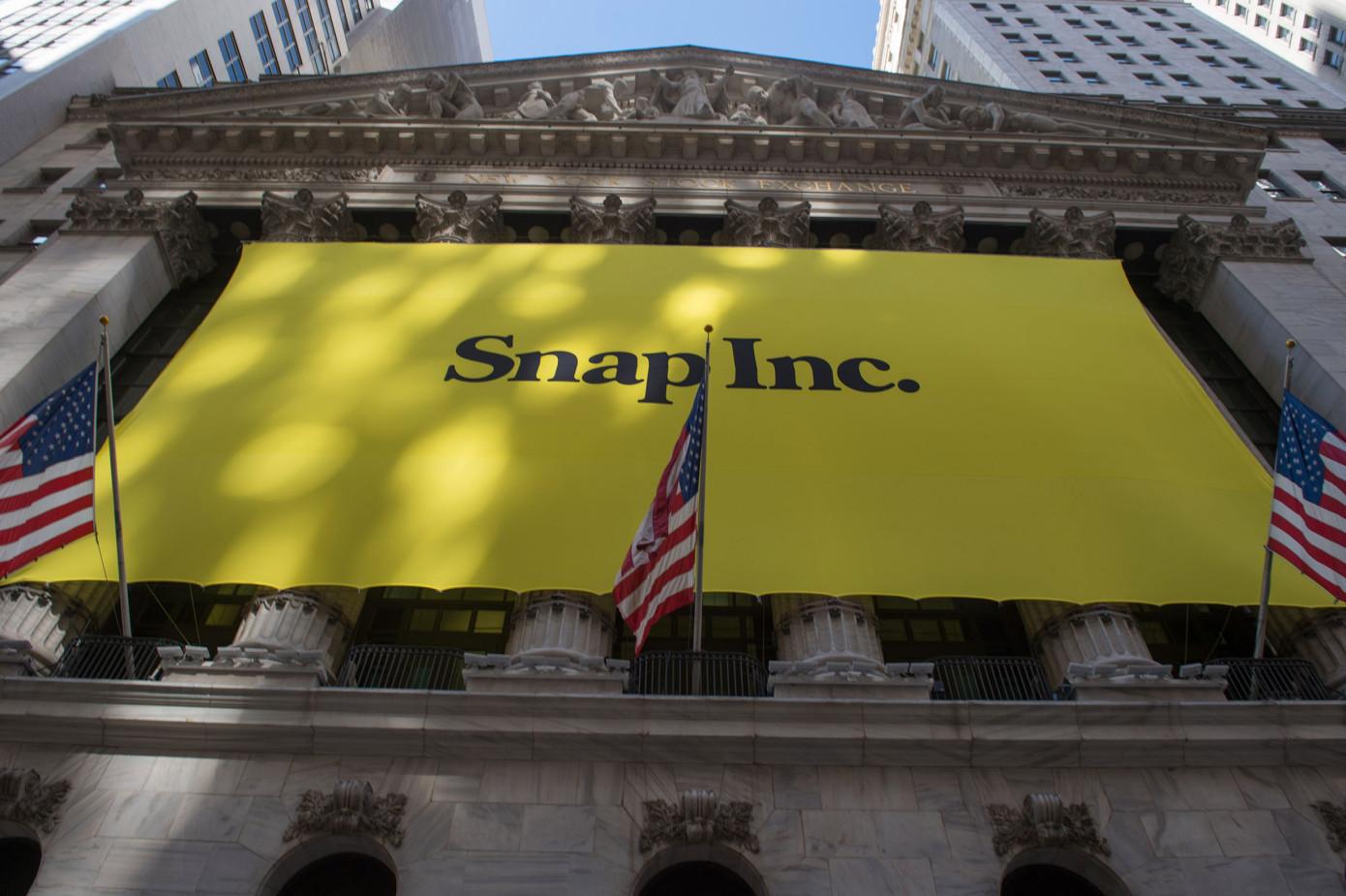 Snap超越其IPO首发价格