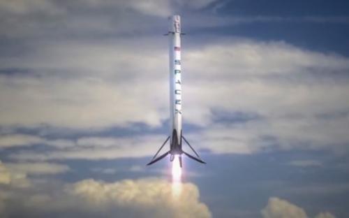 SpaceX成功发射两次飞行的猎鹰9号在海上捕获整流罩