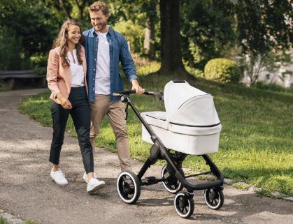 博世的电动婴儿车技术可以帮助您的宝宝上山