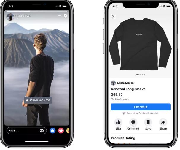 Facebook增加了公众人物通过销售商品来赚钱的方法