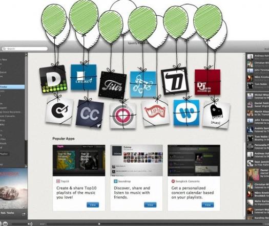 Spotify将其应用程序库与蓝筹合作伙伴和第三方开发商混合使用