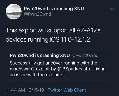 Unc0ver进入内部测试并支持运行iOS 13.0-13.3的A12