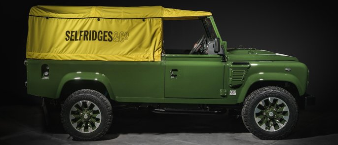 Selfridges Edition Land Rover Defender成为焦点