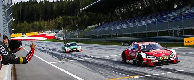 奥迪在奥地利庆祝其第100次DTM胜利