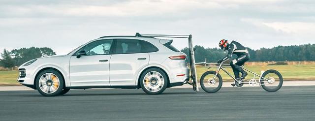 保时捷帮助打破欧洲自行车陆地速度记录