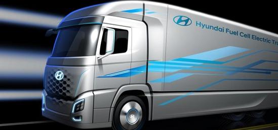 现代取笑新型燃料电池电动卡车