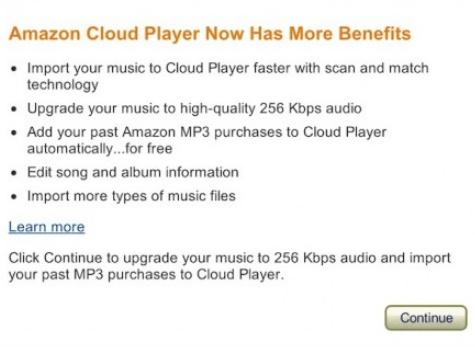 亚马逊的Cloud Player现在具有类似于iTunes Match的扫描和匹配功能
