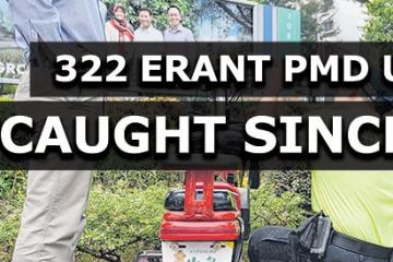 自5月1日法律生效以来 共有322名错误的PMD用户被抓