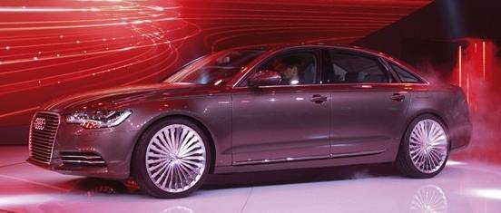 奥迪在北京发布基于A6L的etron概念车