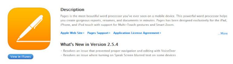 iWork iOS应用程序的更新修复了辅助功能错误