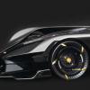 布加迪La Finale Concept庆祝燃烧发动机