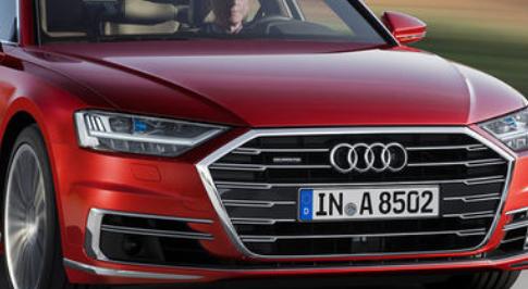 奥迪A8温和的混合动力系统和半自动驾驶辅助
