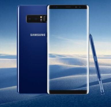 深海蓝的三星Galaxy Note 8将于11月17日登陆美国