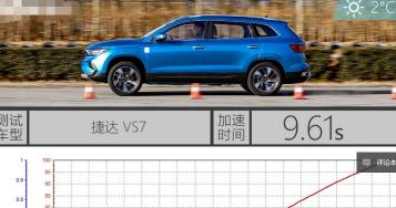 汽车知识科普:捷达VS7加速测试 捷达VS7百公里加速多少秒