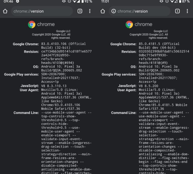 如何检查Android上的Chrome是32位还是64位