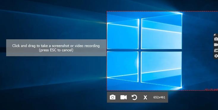 捕获屏幕截图或视频并与ScreenRec共享