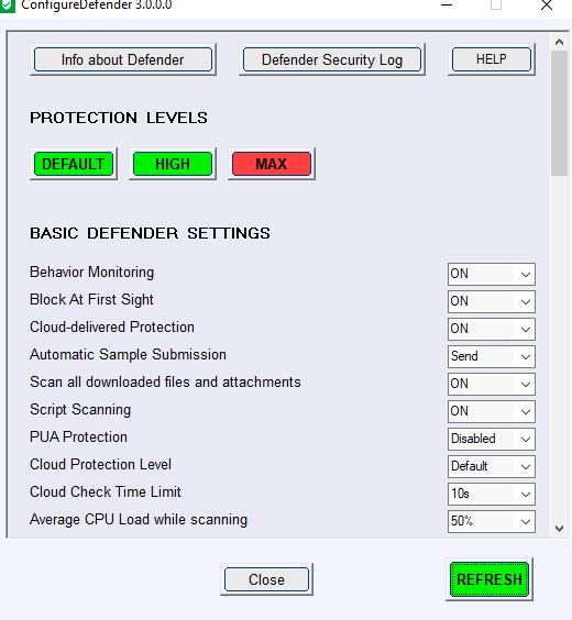 WindowsDefender配置工具ConfigureDefender3000已发布
