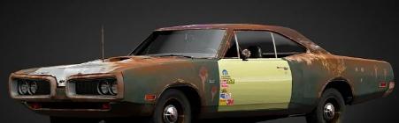 道奇超级蜜蜂RustbucketGTS汽车比超速子弹快