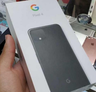 一组谷歌Pixel4的包装盒照片曝光