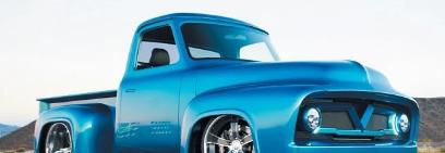 福特F-100定制卡车摇摆着宝马喷漆雪佛兰V8发动机