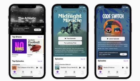 Apple Podcasts应用程序将进行重新设计