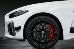 2021宝马4系双门轿跑车M性能部件包包括大量的碳纤维套件