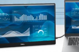 戴尔推出带有紧凑型14英寸便携式显示器的新显示器系列